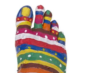 Creative human foot