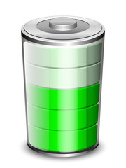 Battery icon, vector