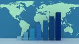 Global success concept. 3d render background