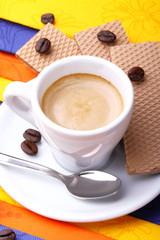 Espresso cialde e chicchi di caffè