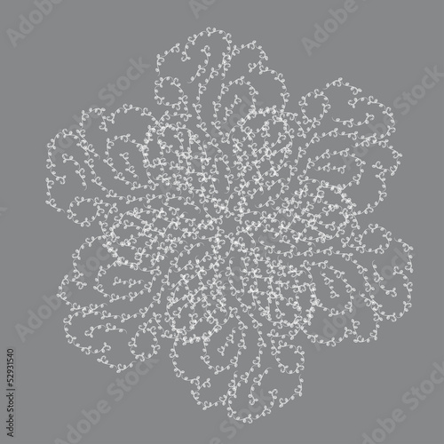 Abstract isolated vector flower or snowflake
