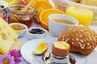 Leinwanddruck Bild - Gesundes Frühstück