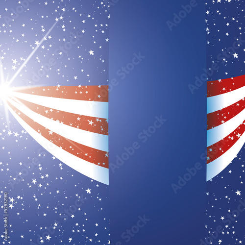 United States of America Flag background with stripes