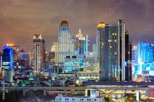 Bangkok downtown Skyline at night