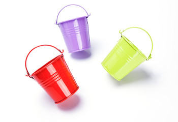 bucket on white background