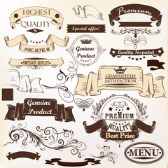 Collection of vector banners premium, genuine and highest qualit