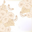 Hand drawn floral background in pastel color