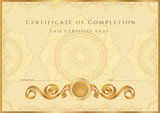 Gold Certificate / Diploma template (design sample)