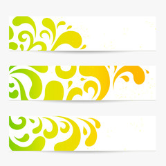 Vector set: Banners. Colorful abstract backgrounds. Pattern