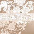 Wedding background with roses for design