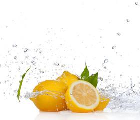 Fresh fruit, isolated on white background