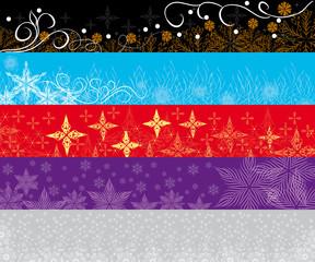Decorative vector Snowflakes backgrounds set