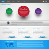 Fototapety modern creative website template design