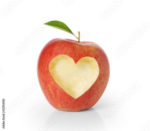 apple with heart shape