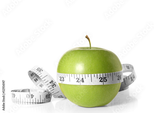 Green apples measured the meter