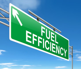 Fuel efficiency concept.