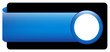 BLANK web button (rectangular blue white icon arrow symbol)