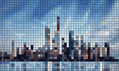 manhattan skyline - abstract