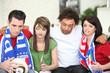 Sad Italian football fans