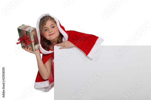 Little girl in festive outfit