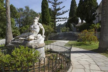 Achilleion Statue, Garten des Achilleions auf Korfu