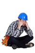 A fed-up and bored tradesman