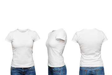 mannequin in blank white t-shirt