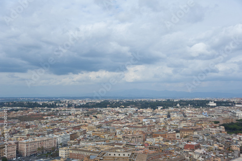 View  of Rome from above .The city center, Italy.
