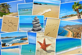 spanish beaches collage
