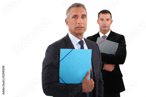 Businessmen on white background