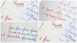 montage de correction de cahier d'élève