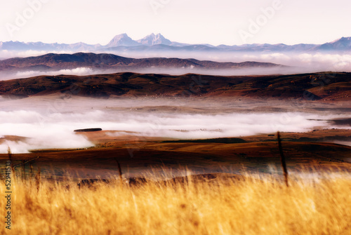 Scenery - misty dawn on the mountain - 52941513