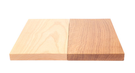 Two boards (elm, oak)