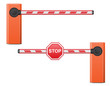 road barrier vector illustration