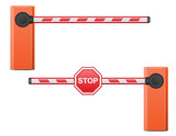 road barrier vector illustration