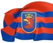 Flag of Szczecin, Poland.
