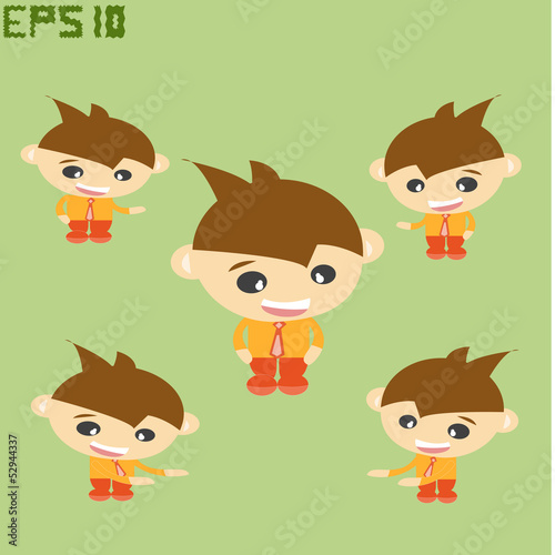 Welcome  ,Set cartoon vector of business
