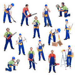 Workers from the construction industry