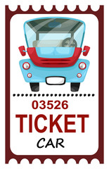 illustration of isolated ticket travel vector