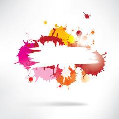 Splash on abstract background