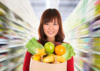 Asian grocery shopping.