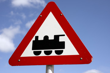 Train traffic sign