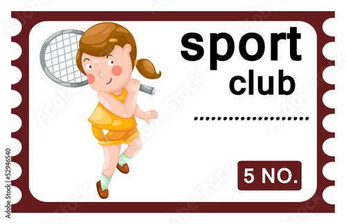 illustration of isolated ticket sport club vector