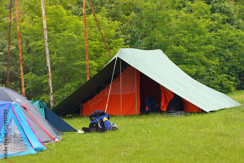 scout camp open air in the middle of nature