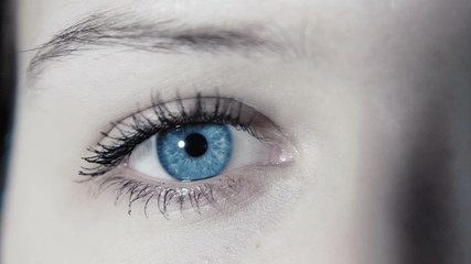 wonderful close up eye of a girl