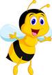 Obrazy na płótnie, fototapety, zdjęcia, fotoobrazy drukowane : Cute bee cartoon
