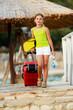 Travel, summer holidays - direction summer resort