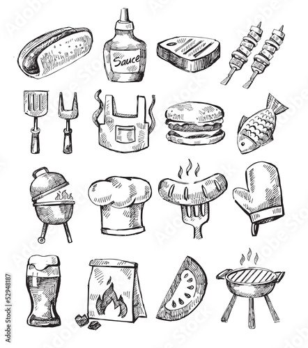 hand draw barbecue