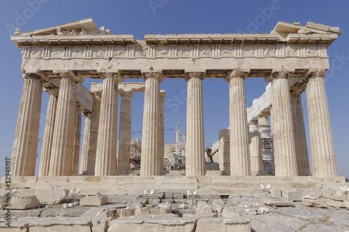 Staande foto Athene Parthenon ancient temple, Athens Greece
