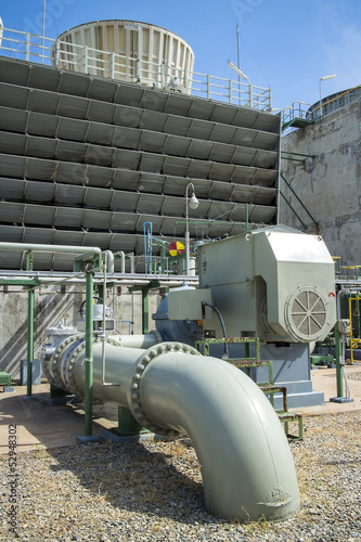 Pipe and Cooling Tower